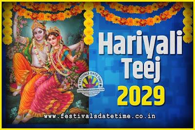 2029 Hariyali Teej Festival Date and Time, 2029 Hariyali Teej Calendar