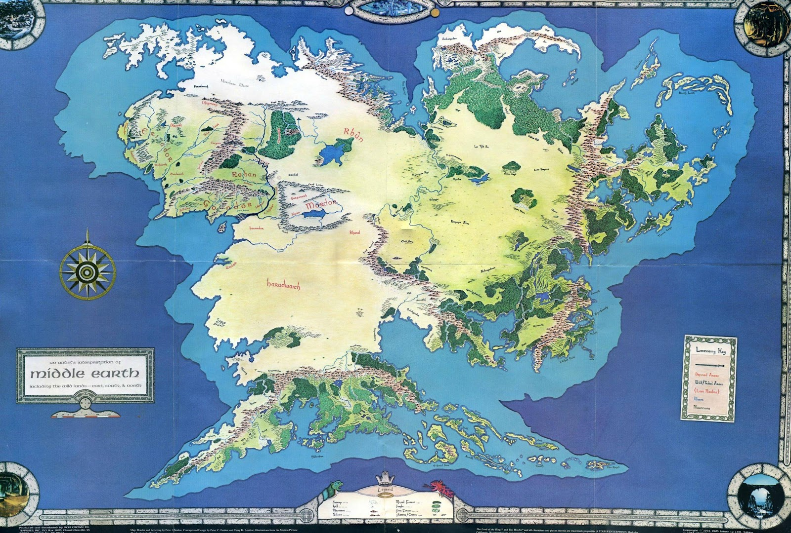 Map Of Arda Full maps of Arda in the Third Age? : lotr