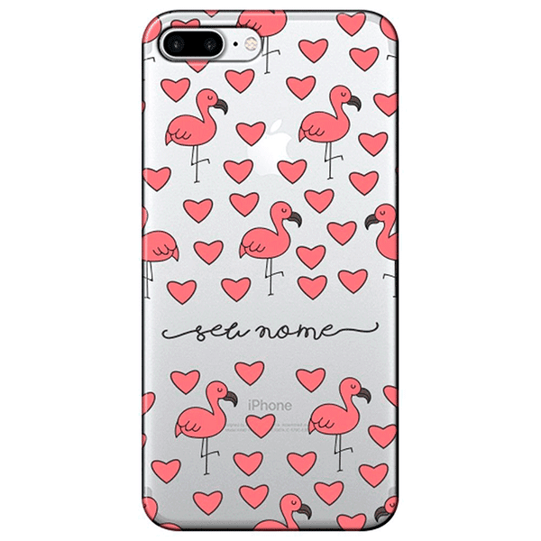Capinha de iPhone flamingo