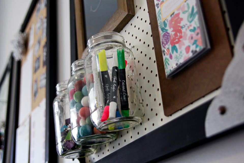 DIY Upcycled Home Office Pegboard Storage Accessories (Part 2)