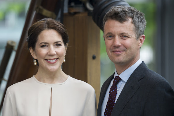 Crown Prince Frederik and Crown Princess Mary of Denmark attends the opening ceremony of the business delegation's programme with 450 Danish and German guests including company leaders and decision-makers at the Loewenbraukeller