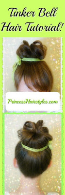 Tinkerbell Hair Tutorial With Fake Bangs Using Your Own Hair! #halloweenhairstyles