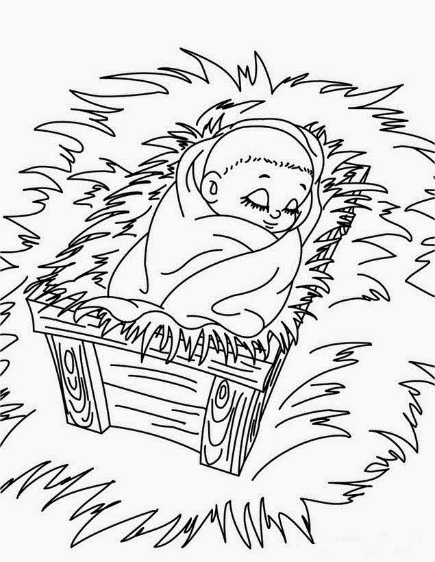 Dibujos de Nacimiento de Jesus para colorear ~ Dibujos