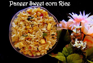 Paneer Sweet Corn Rice