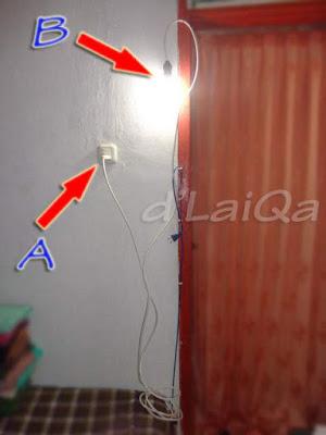 tes rangkaian lampu