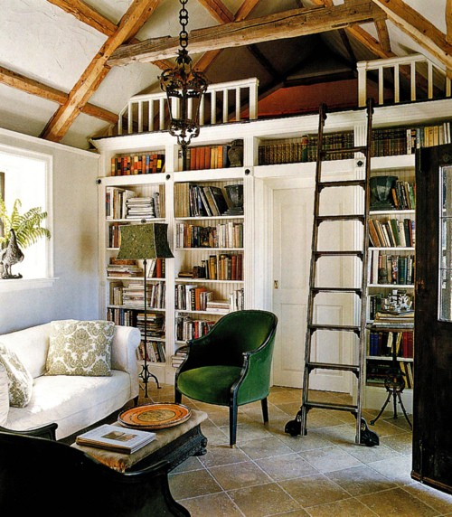 10 Small Guest Room Ideas That Are Larger Than Life: Tiffany Leigh Interior Design: Library Ladders