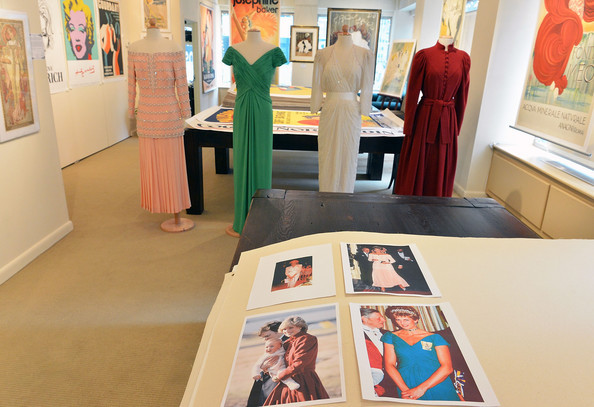 HRH Princess Diana memorabilia - Julien's Auctions of Beverly Hills December 5-6, 2014 on display at Ross Art Gallery in New York City
