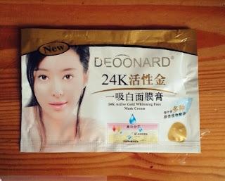 Masker Lumpur Deoonard Gold 24K