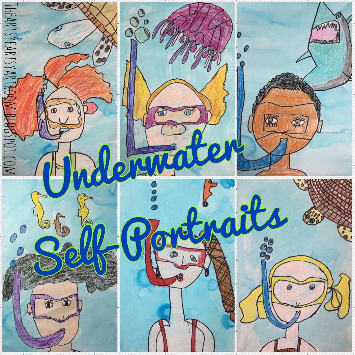 The Artsy Fartsy Art Room: 2nd Grade Underwater Self ...