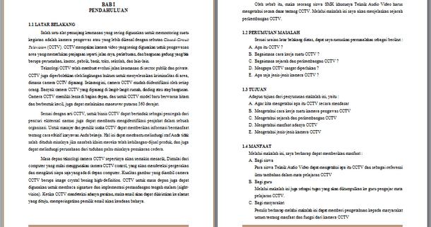 Contoh Makalah Tentang Cctv Contoh Makalah Docx