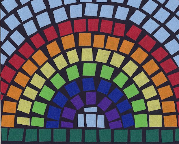 Mosaic Rainbow Art Projects Kids