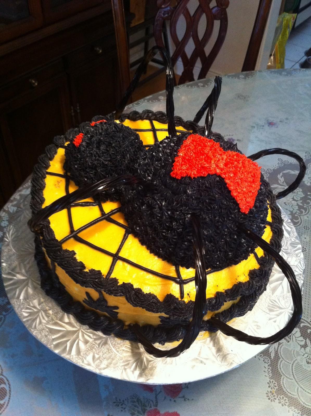 Love Dem Goodies Black Widow Spider Cakes