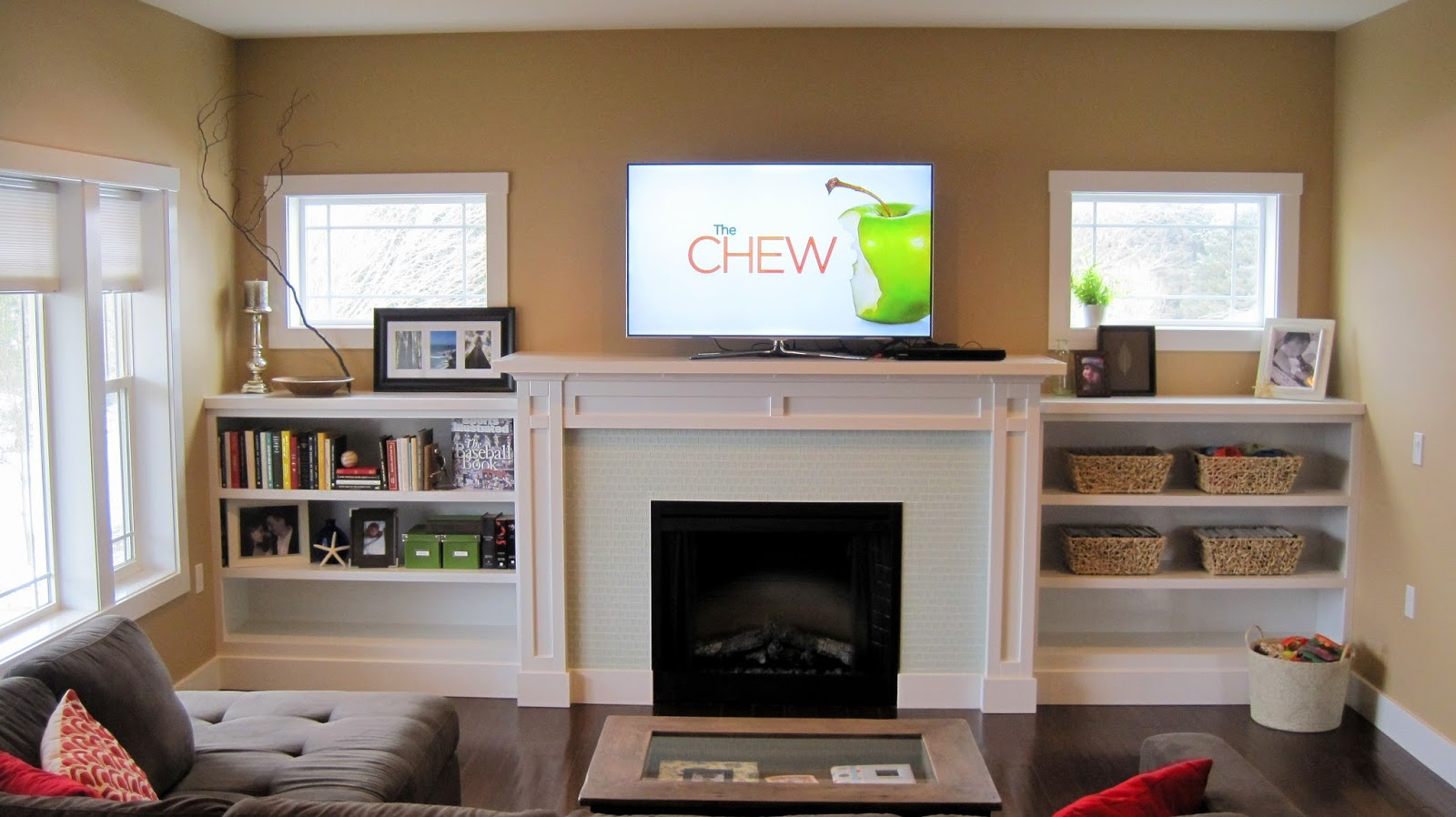 I Married A Tree Hugger: Built In Fireplace Inspiration