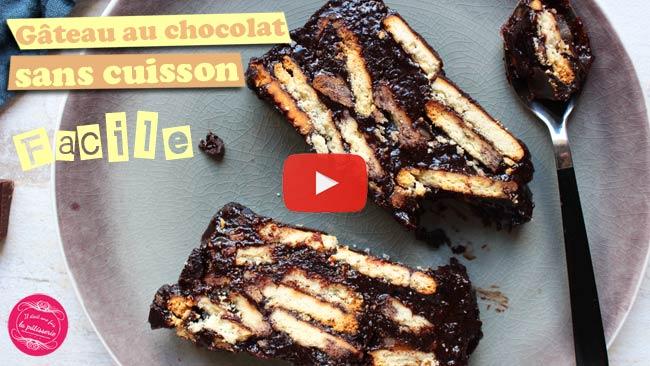 gâteau au chocolat sans cuisson { facile et rapide ! } : il était