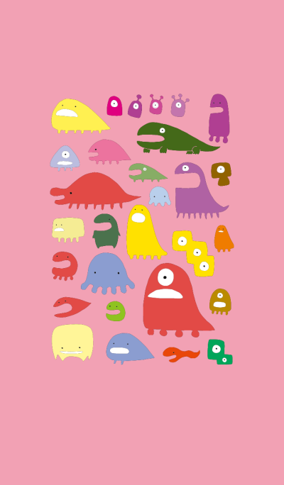 Monsters(pink)