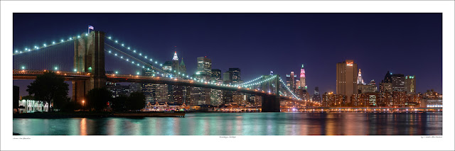 Brooklyn Bridge new York wide panoramic photo prints for sale, Martin St-Amant wikipedia Owen Art Studios Panoramas
