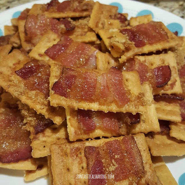 Bacon Crackers #recipe #bacon #snack