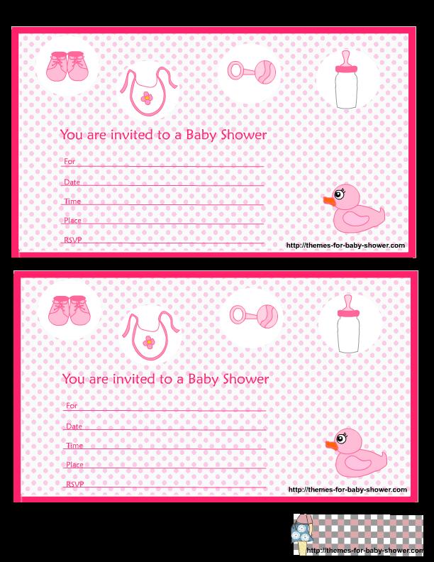 Para hacer invitaciones, tarjetas, marcos de fotos o etiquetas, para imprimir gratis de Baby Shower para Niña.