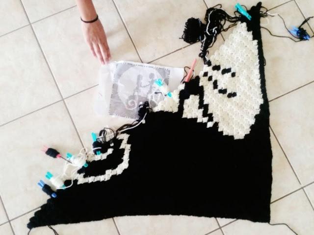 Nightmare Before Christmas Crochet Blanket.Naughts Cross Stitches Crochet Blankets Update