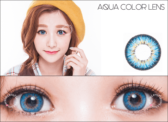 gg shinny aqua circle lenses