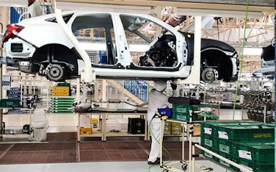 O maior aumento de produção foi registrado no setor automotivo e na indústria siderúrgica