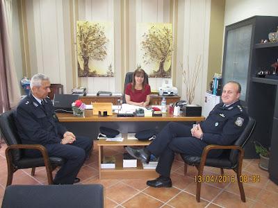 Τη Δήμαρχο Σουλίου επισκέφθηκε ο νέος Αστυνομικός Διευθυντής Θεσπρωτίας κ. Ηλία Ντόντης