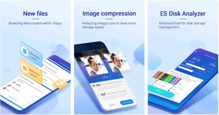محلل القرص ES يساعدك على زيادة مساحة التخزين من خلال إيجاد الملفات الأخيرة والكبيرة، وضغط الصور