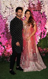 Shahid Kapoor and Mira Rajput Kapoor At Akash Ambani Shloka Mehta Reception