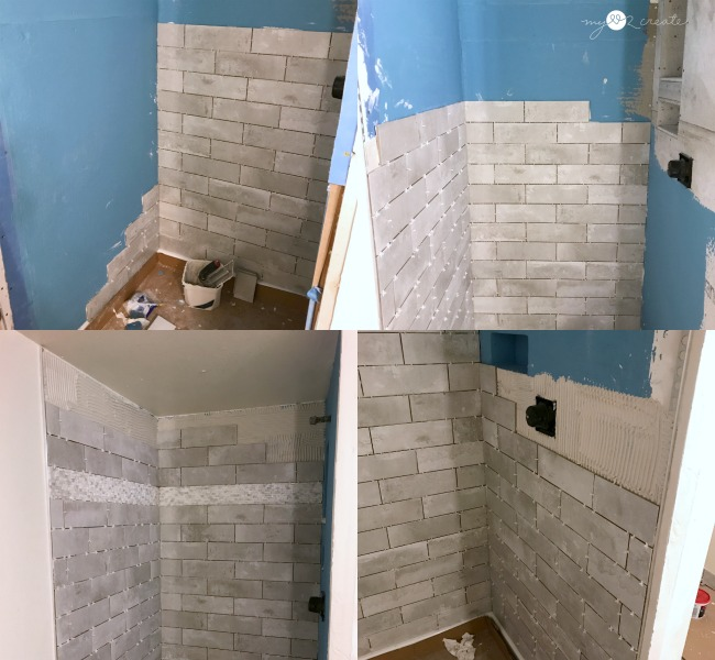 tiling shower