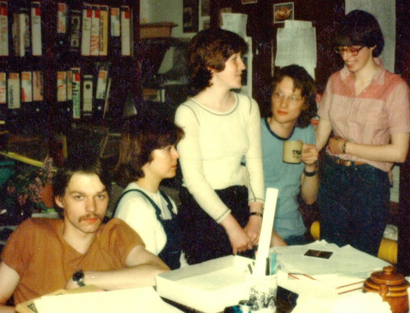 Gladstone Pottery Museum Story   Pam Bott, far right, with her team of curatorial staff   Date: 1977
