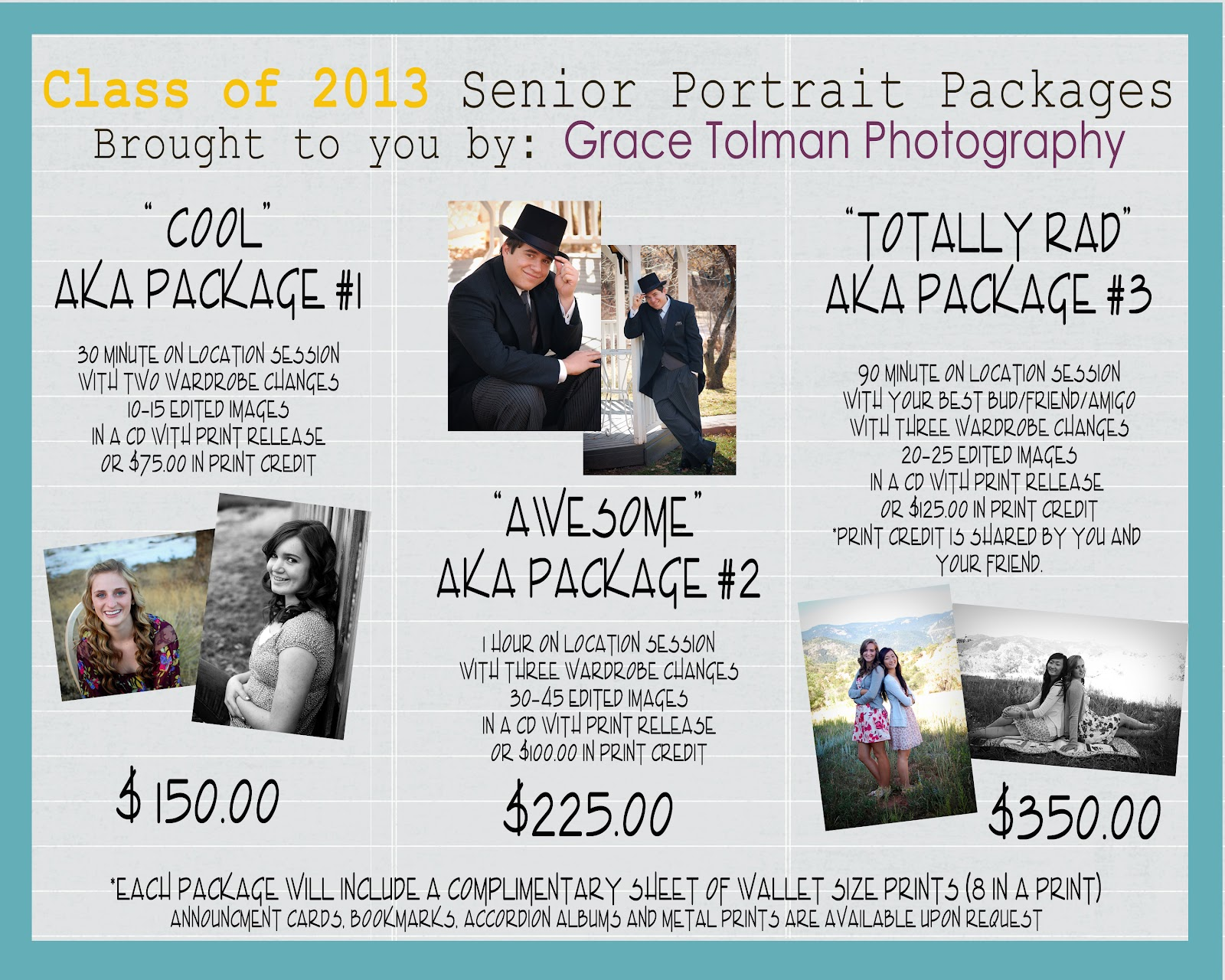Gracetolmanphotography Class 2013 Senior Portrait Packages