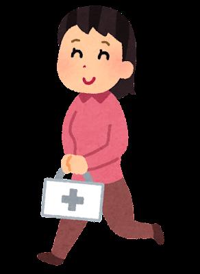 訪問診療のイラスト(私服)