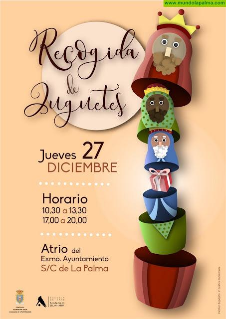 La Campaña de Recogida de Juguetes de Santa Cruz de La Palma contará con un cartel creado por el joven diseñador Héctor Expósito
