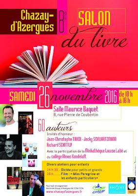 Marido Viale en signature au 8ème salon du livre de Chazay-d'Azergues le 26 novembre 2016