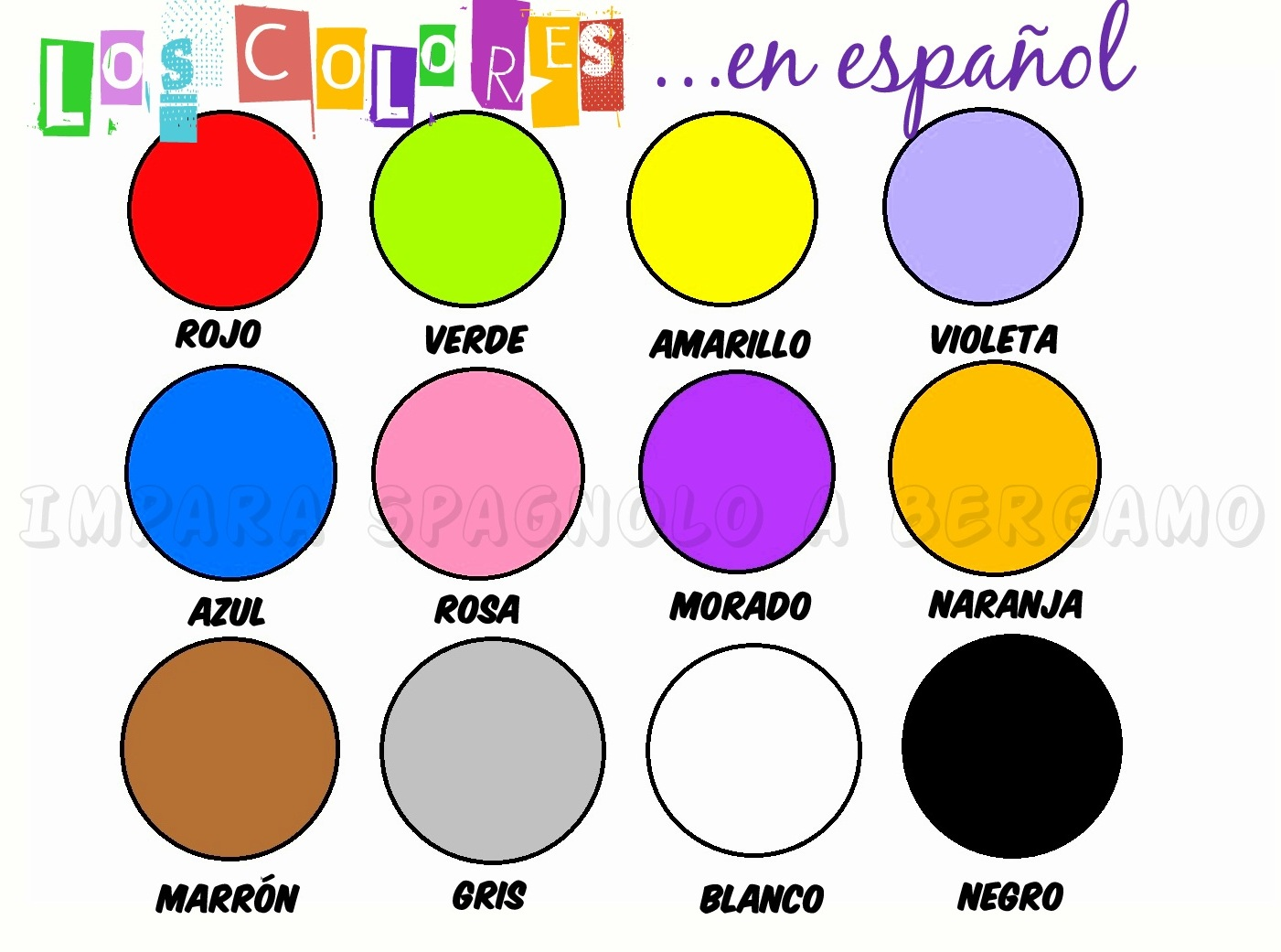 Blog Di Spagnolo Los Colores 1a