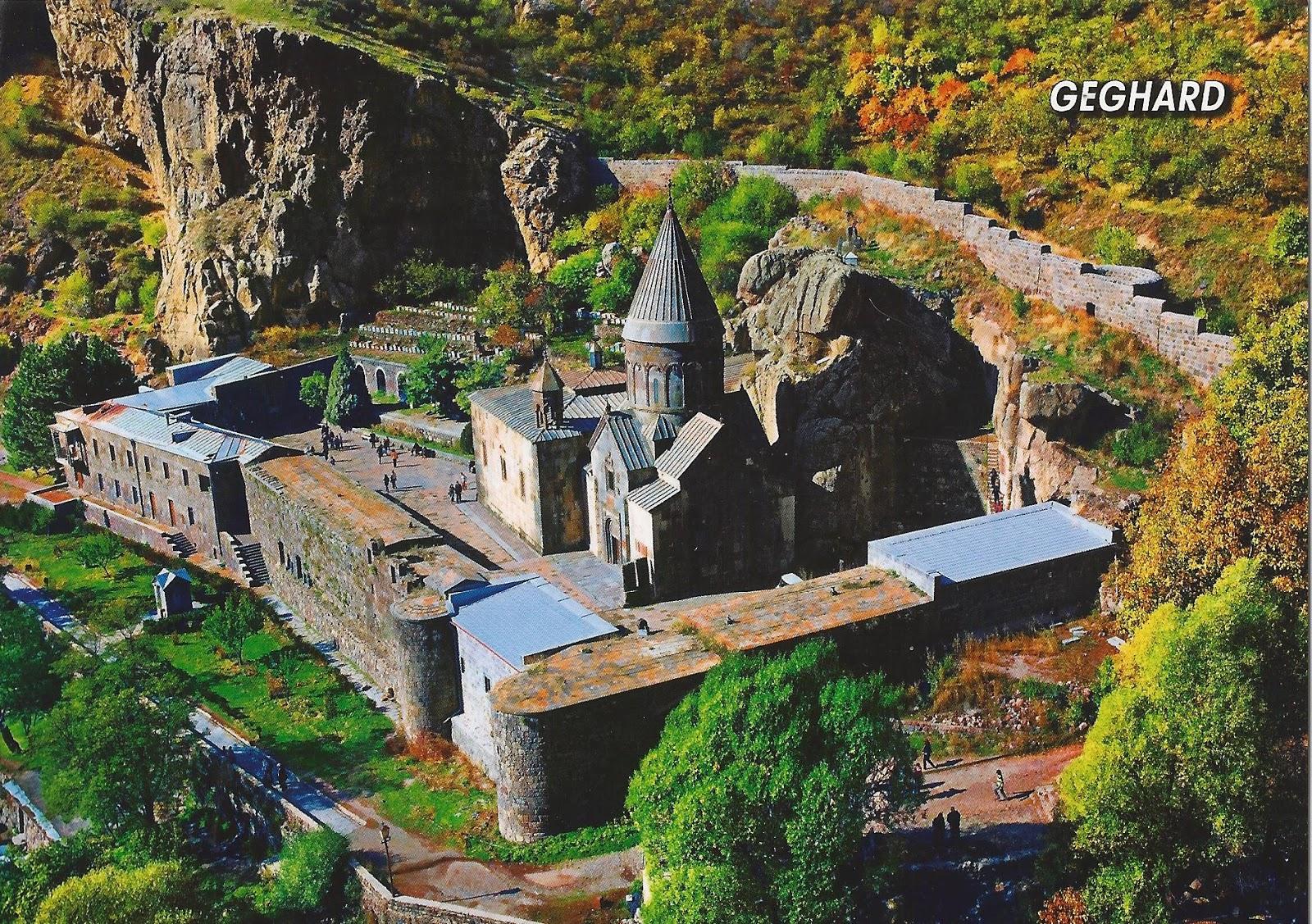 A Journey of Postcards: Geghard monastery  Armenia