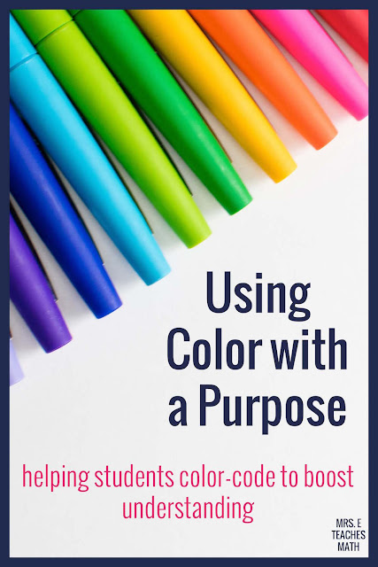 If you teach students, you need to help them learn to color code!  These tips and ideas will help your students learn how to take better notes in math and will boost their understanding.
