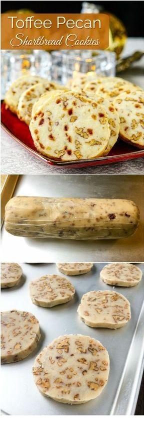 Toffee Pecan Shortbread Cookies