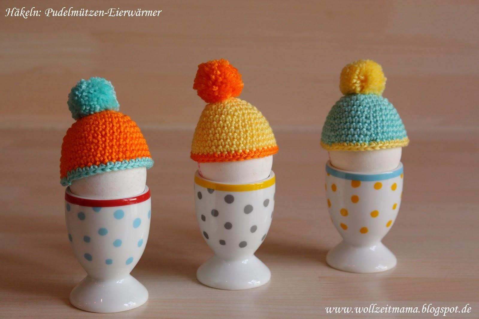 Wollzeitmama Mini Pudelmützen Als Eierwärmer Häkeln