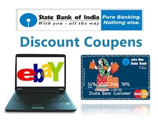 Ebay India SBI  Debit Card Discount Coupens
