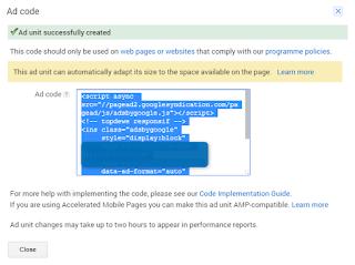 Cara pasang kode iklan adsense di blogspot