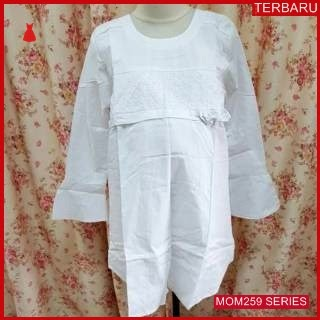 MOM259B16 Baju Atasan Hamil Jumbo Putih Bajuhamil Ibu Hamil