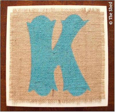Monogram Burlap Wall Art