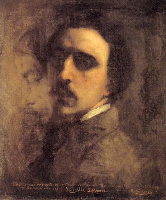 Eduardo Rosales Gallinas, Self Portrait, Portraits of Painters, Eduardo Rosales, Fine arts, Portraits of painters blog, Paintings of Eduardo Rosales, Painter Eduardo Rosales
