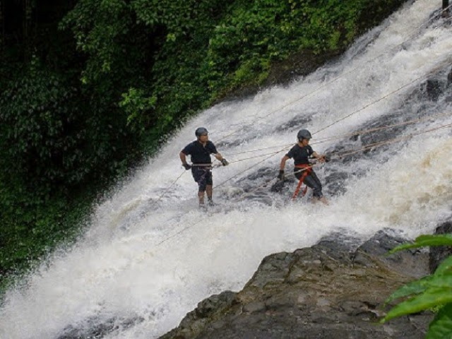 Waterfall Rappelling in India