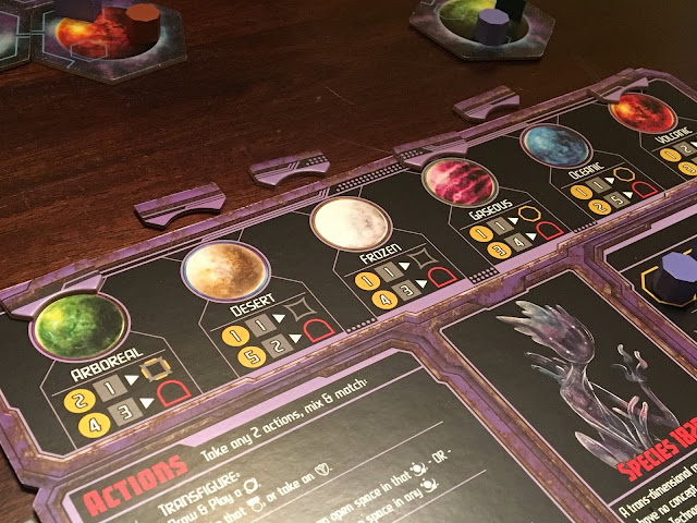 Daily magic games board game Horizons, Species has adapted to planets