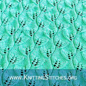 Lace Stitch Pattern for Scarf, Cowl or Blanket #lacepattern