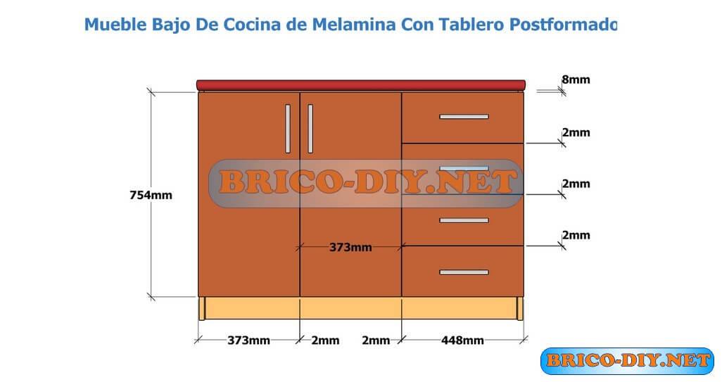 Muebles de cocina bajo mesada hazlo t mismo brico muebles for Planos de muebles de cocina