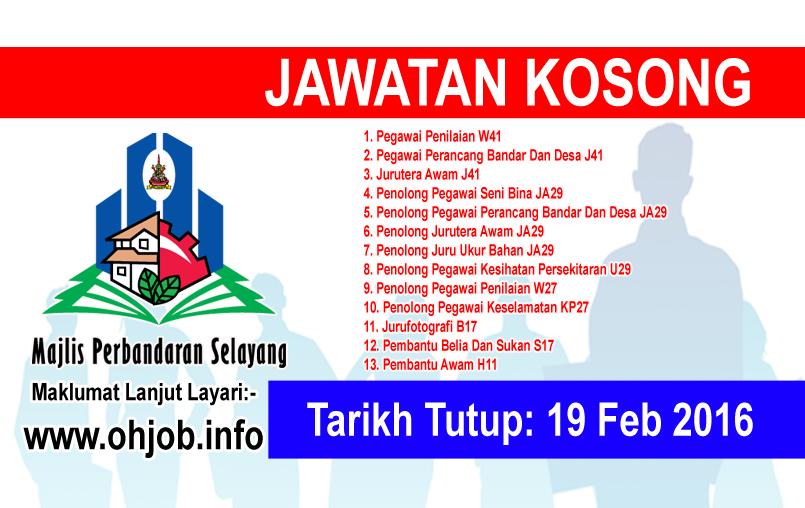 Jawatan Kerja Kosong Majlis Perbandaran Selayang (MPS) logo www.ohjob.info februari 2016