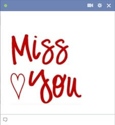 I Miss You Facebook Emoticon